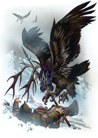 Peryton dand Donjons et dragons
